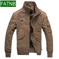 Air Force One Mens Jackets Army Military Spring Autumn Cottton Brand Clothing For aeronautica militare Size 4XL black khaki