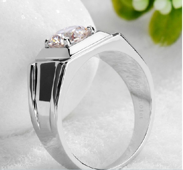 Wholesale Men Jewelry 045ct Generous Rings For Men 925 Sterling