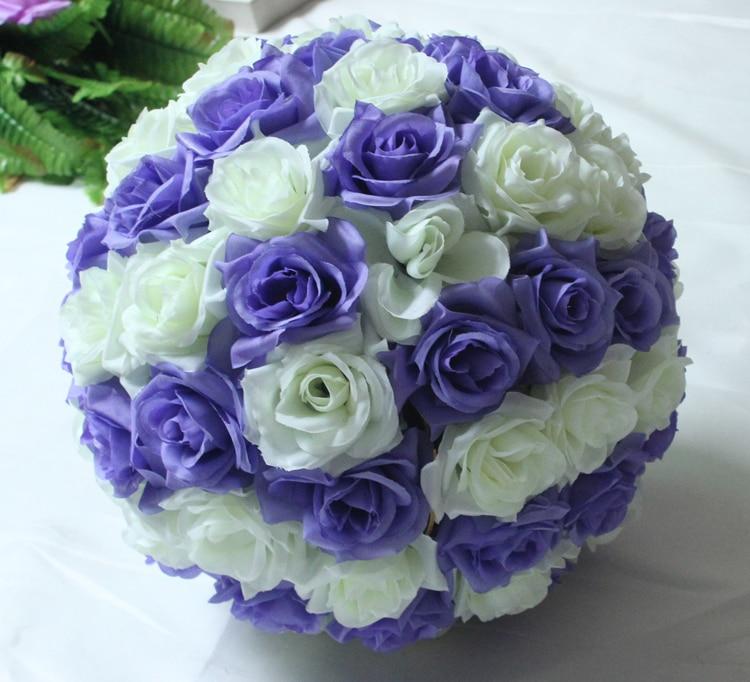 8 inç 20cm varur dekorative Balli Lule Qendrore Fusia Mint - Furnizimet e partisë - Foto 5