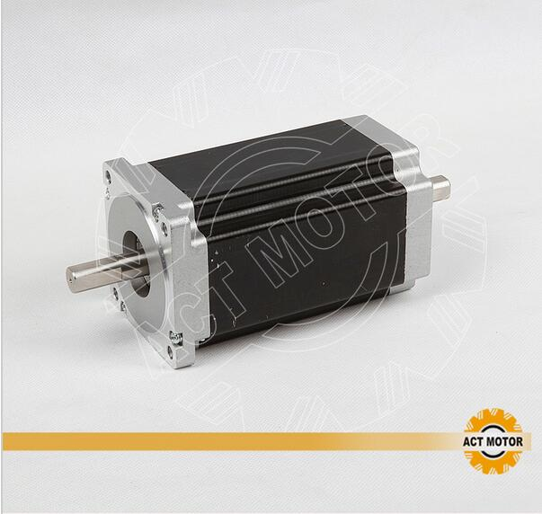 ACT Motor 1PC Nema34 Stepper Motor 34HS5435B Dual Shaft 1600oz-in 3.5A Dual Flat Shaft CE ROHS ISO CNC Foam Router Grind CNC act motor 1pc nema34 stepper motor 34hs9820b 890oz in 98mm 2a 8 lead dual shaft ce iso rohs cnc router laser plasma engraving