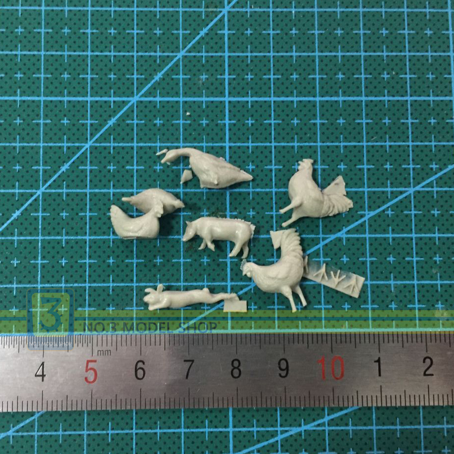 Toy 1/35 Resin Models SoldierChickens Ducks And Pigs Rabbit Animal Resin Model