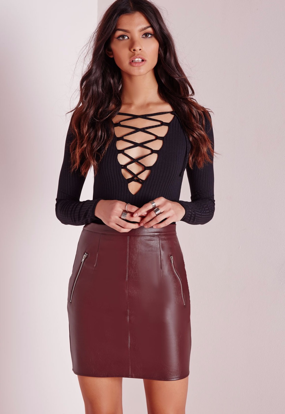 Leather skirt at the office – Modern skirts blog for you