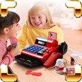Presente de natal Brinquedos Supermercado Caixa Registradora Bebê Pretend Play Crianças Máquina POS Jogo Kids Learning Educação Modelo Presente