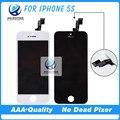 100% Нет Мертвых Пикселей Качество AAA Для iPhone 5 5C 5S ЖК Ассамблея с Сенсорным Экраном ЖК-Экран Белый и Черный Бесплатная Доставка
