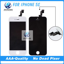 100% No Dead Pixel Quality AAA For iPhone 5 5C 5S LCD Assembly with Touch Screen LCD Screen White and Black Freeshipping