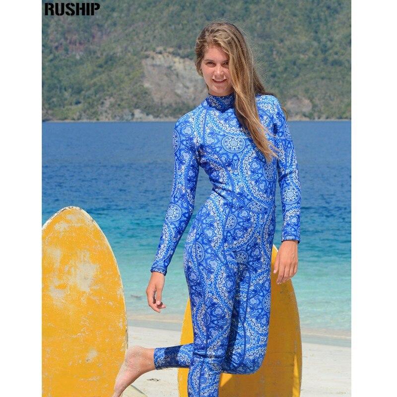 Hisea 3mm Women Neoprene printing Elastic Wetsuit Diving Equipment full bodysuit Swimsuit Neoprene wetsuit diving suit