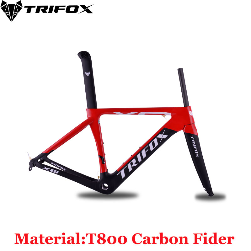 TRIFOX Carbon Road Bike Frame Glossy Matte Disc Brakes BSA For DI2 Carbon Fider Bicycle Frame Road