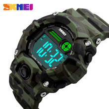 SKMEI 1162 Men Women Russian Talking Clock Sport Watch Digital Clock Outdoor EL Light Sports Wristwatches Alarm Relogio