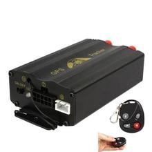 Spy Vehículo En Tiempo Real GPS Tracker Sistema antirrobo Ranura Para Tarjeta SD de Alarma GSM de Control Remoto tk103b 103b