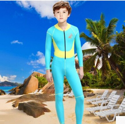 Neoprene Keep Warm Long-Sleeved DivingSuits Wetsuit For Children Boy One Piece Swimwear Diving Suits Surfing Beach Rash Guard