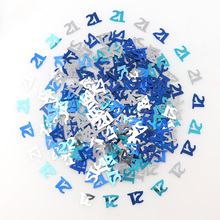 Mix Number 16 18 30 60 Years Old Lady Men Sprinkle Metallic Confetti Table Scatter Adults Happy Birthday Party Decorations 15g