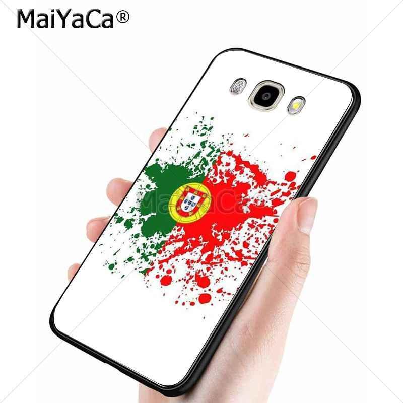MaiYaCa البرتغالية العلم حار المطبوعة بارد الهاتف اكسسوارات ل samsung note 5 note8 j7 j6 j4 j2pro حالة كوكه