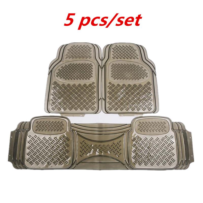 Transparent Waterproof Non-slip Environmental Protection Plastic PVC Soft Rubber Thick Wear-resistant Car Foot Mat Pad Universal