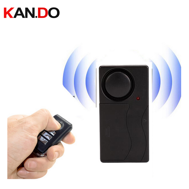 Wireless Remote Control Vibration Alarm Sensor Door Window Car Home House Security Sensor Detector vibrated alarm no packing box wireless remote control vibration security alarm independly door window detector black