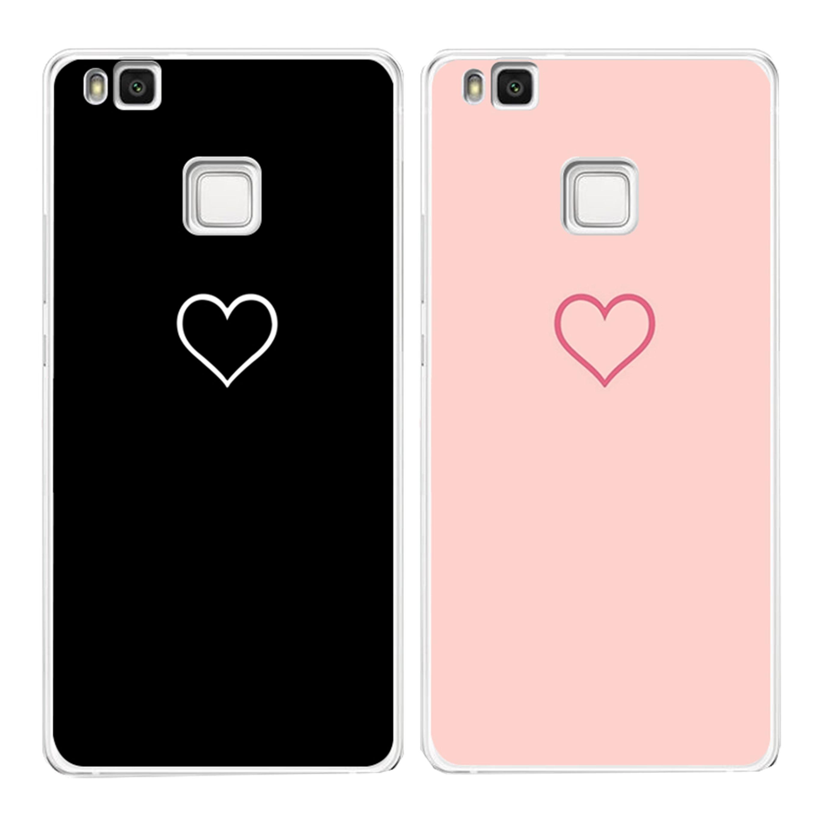 for huawei p8 p9 mini mate 10 p10 lite 2017 case hollow heart coque back ultra thin originality