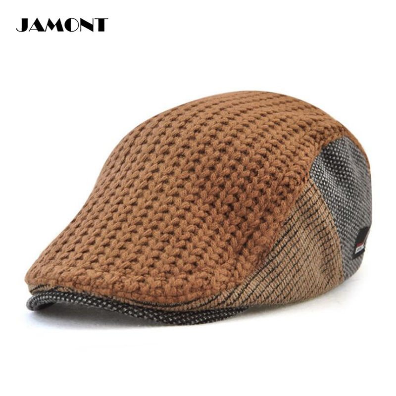 Aliexpress.com   Buy JAMONT Autumn Winter Retro Golf Caps Hat Adjustable  Buckle Hight Quality Knitting Wool Warm Golf Hats For Unisex 4 Colors from  Reliable ... d1270dcd173