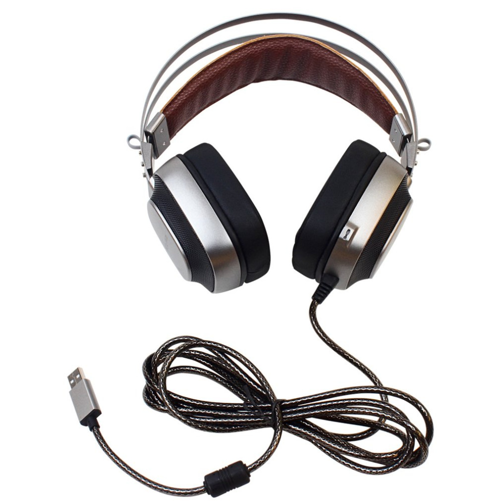 XIBERIA K10 Gaming Headset Stereo Over Ear Gaming Headphones with Microphone Volume Control LED Lighting for PC meelectronics atlas on ear headphones with inline microphone and universal volume control