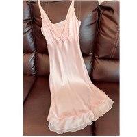 100% Natural Silk Sleepwear Sexy Ladies Nightdress Sleeveless Nightgown Homewear Summer Dress Super Soft for Women Skin Care