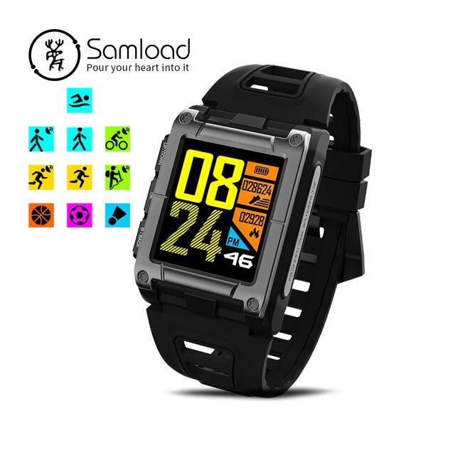 059cfc62dab1 Samload pulsera inteligente piscina ciclismo IP68 brújula GPS actividad  Monitor de ritmo cardíaco reloj para Apple iPhone8