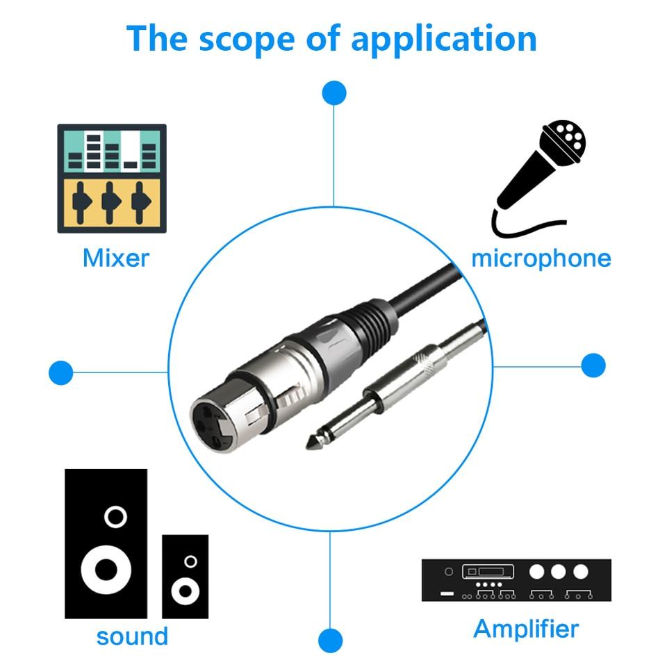 FSU Microphone Wire Cord XLR Female to Jack 6.35mm Male plug Audio Lead  Microphone cable for Sound Amplifier 2M 3M 5M 8M 10M|microphone cable|xlr  xlrxlr female - AliExpressAliExpress