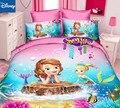 Disney twin size sophia Комплект постельного белья для девочек  декор для спальни  пододеяльник  простыня  4 шт.  бесплатная доставка  новинка