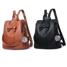 2019 New Style Bowknot Womens Fashion Backpacks Anti-theft Shoulder Bag Top Handle Bags