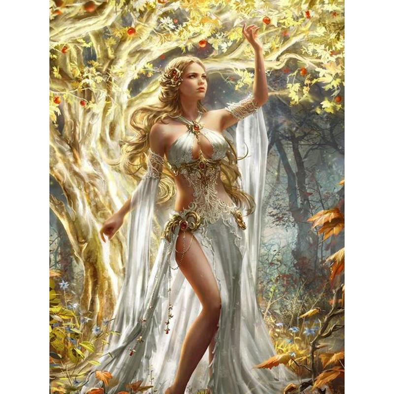 Free shipping <font><b>diamond</b></font> embroidery needlework cross stitch full round <font><b>diamond</b></font> diy <font><b>diamond</b></font> <font><b>painting</b></font> <font><b>sexy</b></font> forest angel KBL image