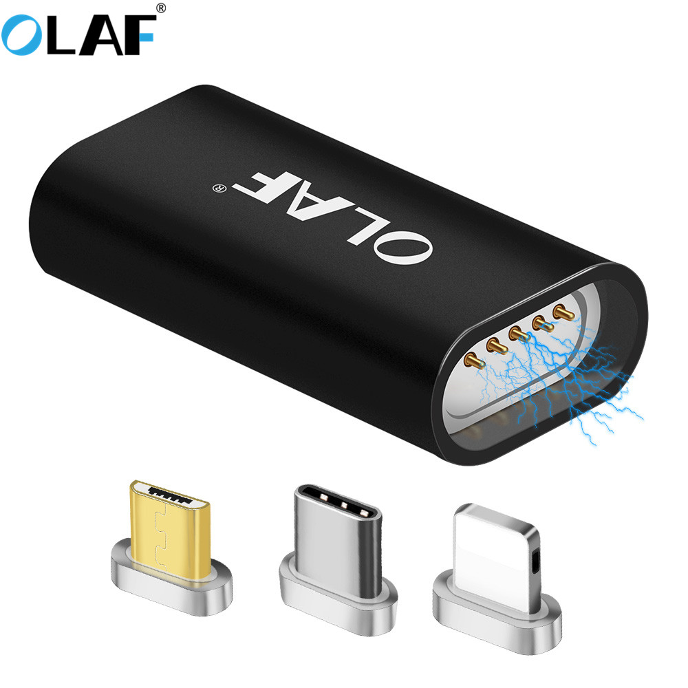 Olaf Mirco USB Connector Magnet Adapter Micro USB to Type-C / IOS For iPhone Mrico USB Charger Magnetic Adapter Converter