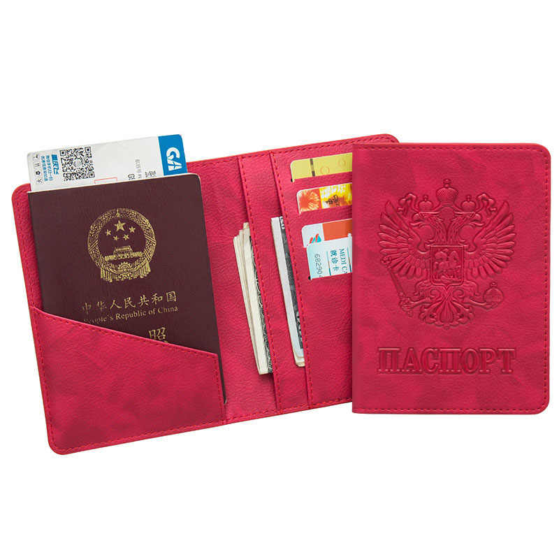 Rfid Blocking Russia Passport Cover Multifunction Card Wallet Passport Case Holder for Russian Girls Men Travel Bag for Document