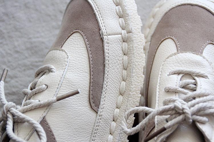 Sans Sneakers 1 Art Blanc 2 Talon Femmes La 2017 De Main Nouveauté Chaussures Automne Nouveaux Étudiants À deCxrBo