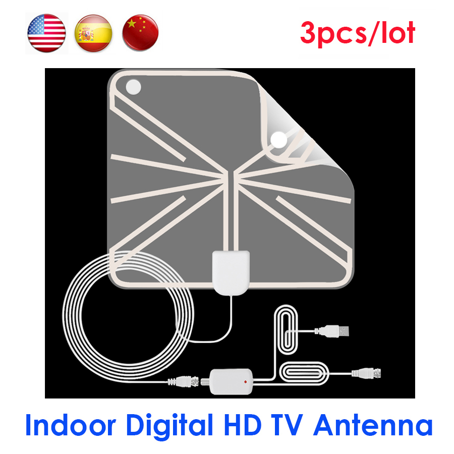hight resolution of ultra thin hdtv antenna dvb t t2 25dbi digital hd 1080p tv antenna indoor signal receiver aerial booster for dvb t2 tv receivers