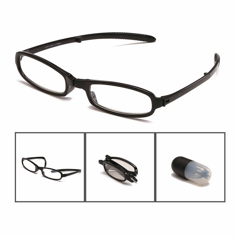 926849fa28 Easy to Carry Folding Reading Glasses Men Women Reading Glasses WITH BOX  Foldable Presbyopia 1.0 1.5