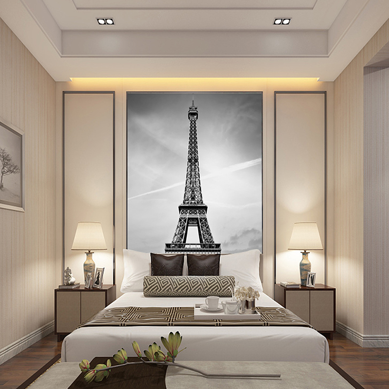 Custom Canvas Art France Paris Poster Paris Wallpaper Eiffel Tower Wall  Stickers Eiffel Tower Mural Bedroom Decoration In Wallpapers From Home  Improvement ...