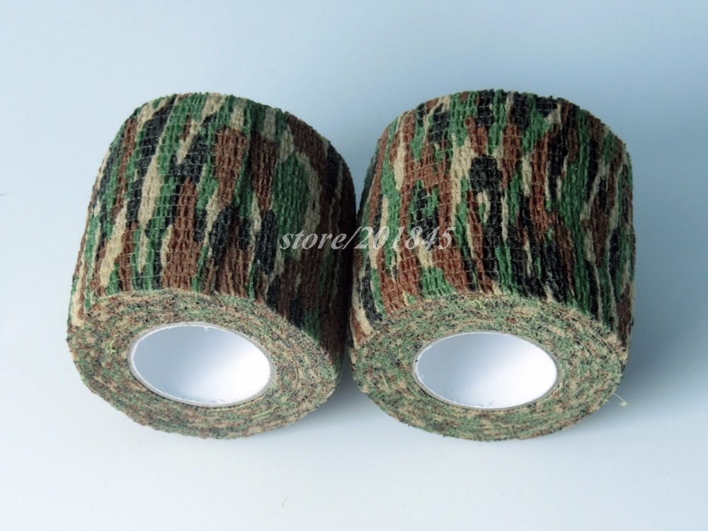 24Rolls Military Airsoft Tactical Camo Stretch Tape Bandage Camping Hunting Camouflage Tape (4.5M) Shooting Gun Accessory aa shield outdoor camping bandage camo tape military rifle covert adhesive multicolor gun black