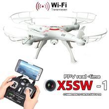 X5SW-1 6-Axis Gyro 2.4G 4CH czasie Rzeczywistym Obrazy Return RC FPV Quadcopter drone wifi z Kamerą HD Jeden-naciśnij Powrotu Helikopter