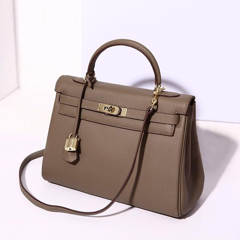 Marque célèbre de luxe en cuir véritable femmes sacs à main Designer haute qualité dames Messenger sac mode femme fourre-tout sacs à bandoulière