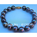 "New TAHITIAN BLACK PEARL 8-9mm  loose beads handmade jewlry bracelet 7.5"" AAA  MY4513"