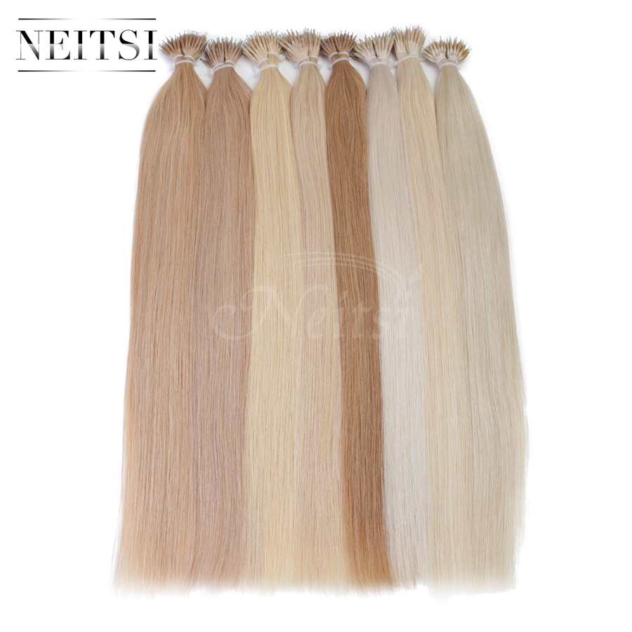"20"" 1g/s 50s 100s Brazilian Micro Nano Loop Ring Human Hair Extensions 100% Remy Hair Straight 18Colors +100pcs Nano Rings Beads"
