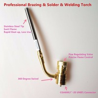Gas Burner Mapp Welding Torch Brazing Gun Super Propane Gas Welding Plumbing Jewelry CGA600 HVAC Plumbing