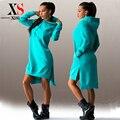 Знаменитости сексуальные платья партии женщин 2015 зима осень женщины с длинным рукавом платье асимметричный случайный Стиль три цвета