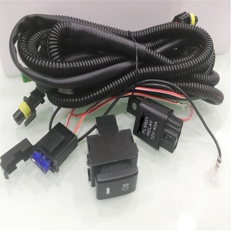CAPQX For Ford Focus For Nissan For Honda Fog Light Lamp Wiring