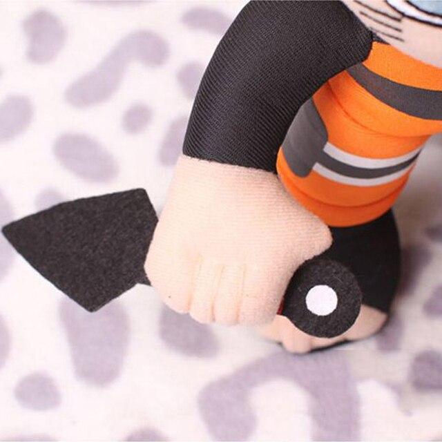 Плюшевая аниме игрушка Наруто с кунаем 30 см 3