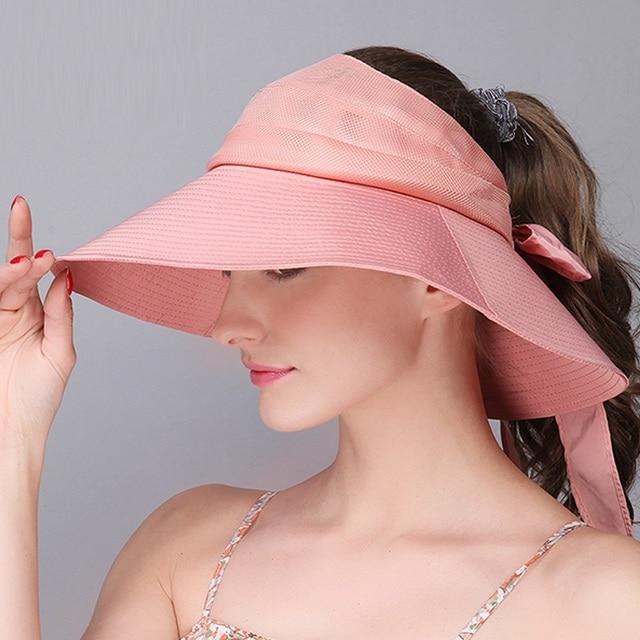 a9006c5edf0 Lady New Outdoor Sun Hat Women Fashion Wide Brim Sun Cap Female Summer Sun  Beach Hat