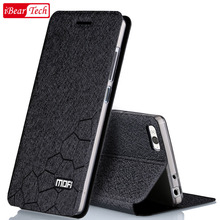 xiaomi mi4c prime case flip leather silicone mofi mi 4c original back cover xiomi 4c book case funda matte shell + Screen Film