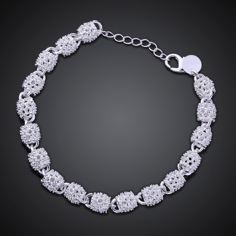 New Silver color Jewelry Hollow Out Bead Bracelet 5