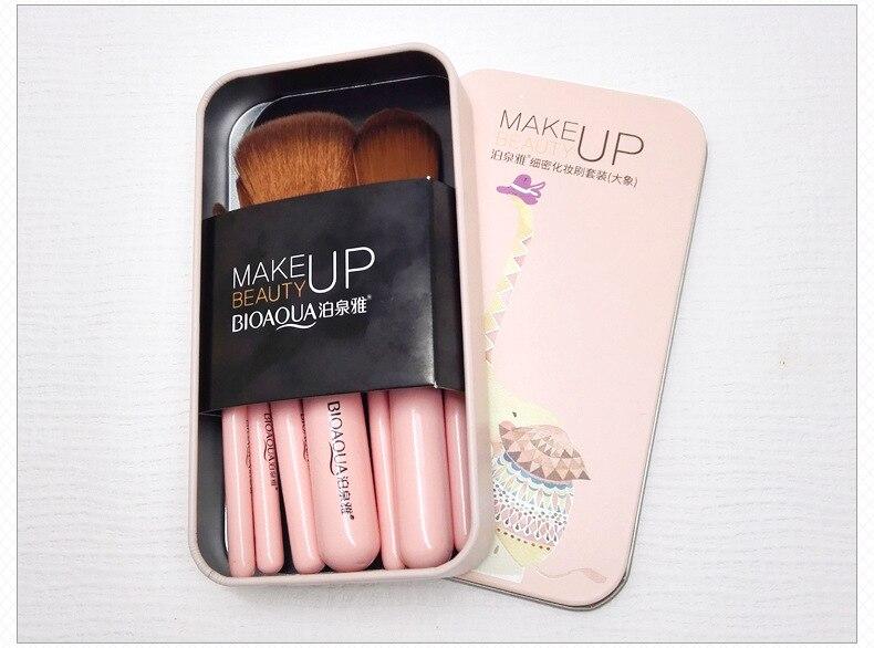 Conjunto de Pincéis escova de beleza fio fino para maquiagem