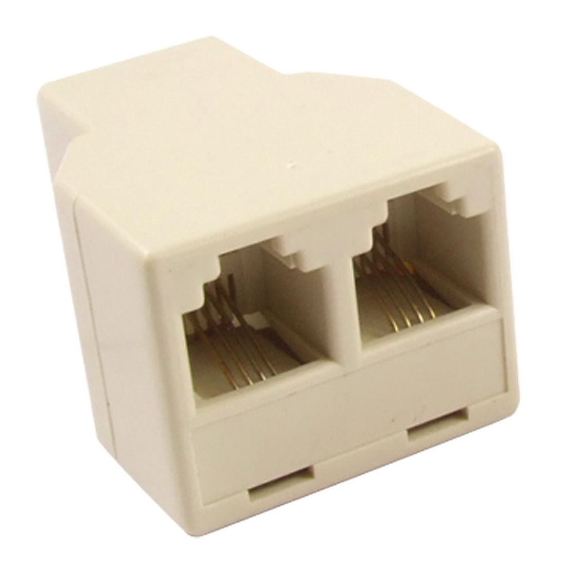 RJ11 4 Pins Female 1 To 2 Telephone Splitter Connector Adapter