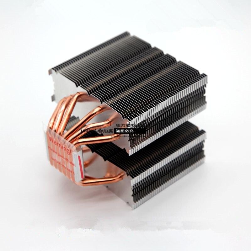 Per Intel AMD 775 115x1366 AM3 piattaforma 6 di Rame tubo di calore Del Computer CPU di raffreddamento passivo Muto silenzioso senza ventole di raffreddamento radiatore