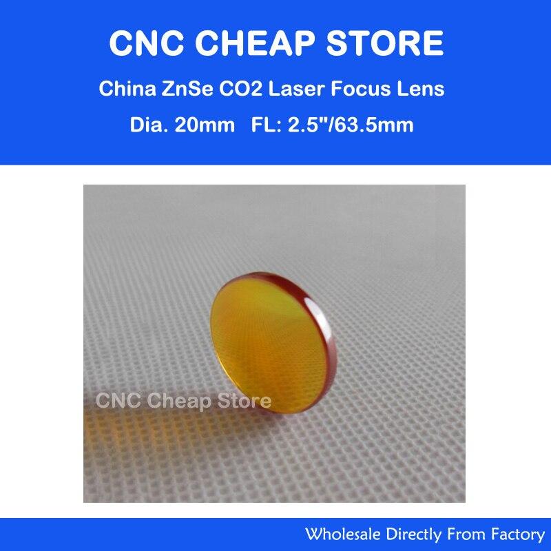 Spedizione Gratuita Cina ZnSe Lente Laser diametro 20mm fuoco lunghezza 63.5mm per laser co2 taglio incisione taglierina macchina parti