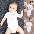 Roupa Bonito Crianças Pijamas Mangas Curtas Tops Roupa Do Bebê recém-nascido Roupas Engraçadas Bodaysuit 0-12 M
